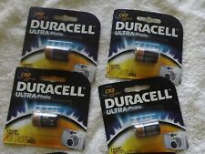 Duracell  cr2 3volt dlcr2/elcr2 new  ultra photo 2023 new quanity of 4 batteries
