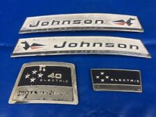 1960s Johnson Sea Horse 40hp Motor Cover Emblems Nameplates Applique Badge SET