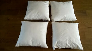 Set of 4 100% Duck Feather Cushion fillings / Pillows