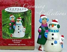 2000 Hallmark Maxine and Floyd Self Portrait Snowman Keepsake Ornament Shoebox