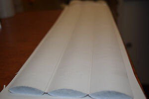 Vinyl Pleats 2 inch white marine, automotive, seat material heat sealed