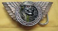 Gürtelschnalle Buckle  Biker Wings Skull Motorcylce MC USA