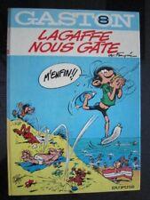 Franquin GASTON -T8 - Lagaffe Nous Gâte -EO - DOS ROND 1970 -TTBE
