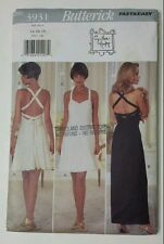 BUTTERICK PATTERN # 3931 Fast & Easy Elegant Dresses Size 14- 18 Ladies Womens