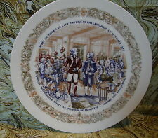D'Arceau Porcelain Limoges Numbered Plate 489 Washington & Lafayette at Tavern
