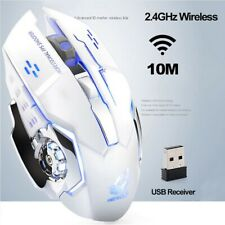 Rechargeable Wireless Silent LED Backlit USB Optical Ergonomic Gaming Mouse Lot
