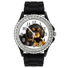 Cavalier King Charles Spaniel Dog Crystal Rhinestone Silicone Wrist Watch SG210P