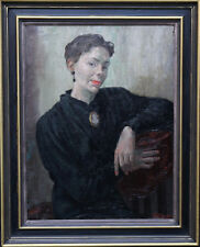 A S FINLAYSON 1940 SCOTTISH PORTRAIT LADY OIL PAINTING POST IMPRESSIONIST ART
