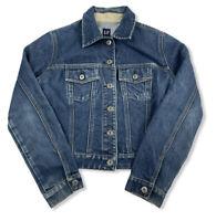 GAP Womens Blue Denim Jean Jacket Outerwear Size XS Cotton Blend Medium Wash