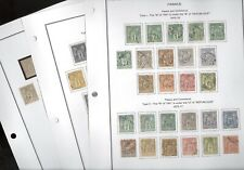 FRANCE, Excellent assortment of SAGE issue Stamps hinged on pages
