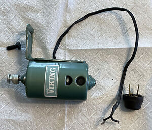Vintage Viking 1.3 Amp Sewing Machine Electric Motor with Pulley and Bracket,VGC