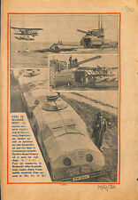 Sous-marin Royal navy hydravion / manoeuvres Reichswehr tanks ILLUSTRATION 1932