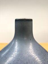 Carl Harry Stalhane | Rorstrand Sweden Blue Vase | Modernist 1950