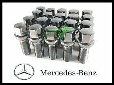 20PC 12x1.5 SILVER MERCEDES BENZ BALL SEAT LUG BOLTS |  40MM SHANK | OEM GRADE