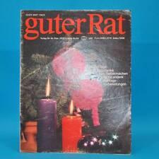Guter Rat 4-1982 Verlag für die Frau DDR Weihnachten Klöße Paravent Silvester E