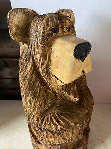 Chainsaw Carvings Bear In Stump Carved Wooden  Bear Carvings