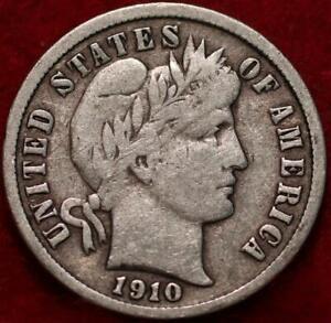 1910-S San Francisco Mint Silver Barber Dime