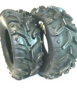 Pair 2 Deestone Swamp Witch 24x11-10 ATV Tire Set 24x11x10 D932 24-11-10