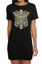 Steampunk Ribcage Women's T-Shirt Dress - Steam Punk Skeleton Clothing