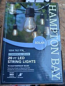 Hampton Bay 20 Ft Solar Led String Light