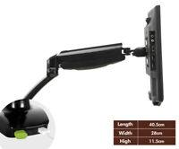 """Computer Arm Monitor Desk Mount Stand For 1 LCD Fully Swivel Clamp Up to 27"""" US"""