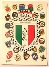Cartolina Italia 90 - C'Ero Anch'Io Stemma Scudetto Italiano E Calciatore