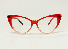VINTAGE CAT EYE DAMEN BRILLE Sonnenbrille Retro Glasses 50er 60er Katzenaugen