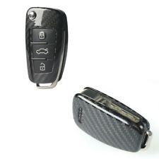 Carbon Fiber 3 Button Remote Smart Key Shell Cover For Audi A4 A3 A6 A7 A8 Q3 Q5