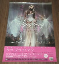 SARAH BRIGHTMAN Japan PROMO ONLY 72 x 51 cm release POSTER official 2009 rare!