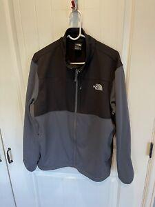 Men's The North Face Black & Gray Full Zip Denali Dual Logo Jacket Size XL