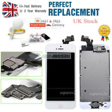 For iPhone 5 White LCD Touch Screen Digitizer Replacement Home Button Camera UK