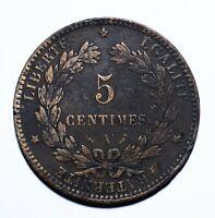 1896 France Five 5 Centimes - Lot 546