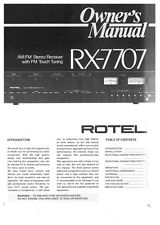 Rotel RX-7707 Receiver Owners Instruction Manual