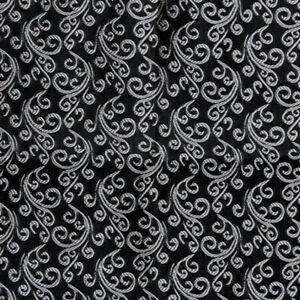 Black Silver Floral SATIN Ascot Cravat Pocket Square Combo Silk Blend