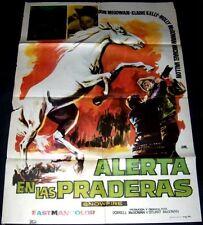 """1958 Snowfire ORIGINAL MOVIE POSTER Dorrell McGowan """"Wild"""" Stallion kid WESTERN"""