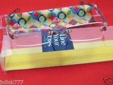 111:NEW Magnivision Line Your Eyes Unisex Reading Eyeglasses+Case-2.50
