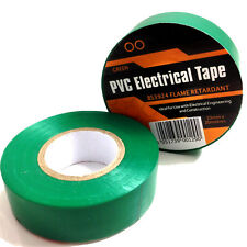 100 ROTOLI di PVC verde isolamento elettrico nastro - 19mm Larghezza x 20 metri di lunghezza