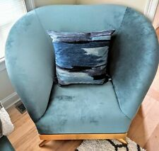 Brushed Velvet Square Throw Down Filled Pillow Southwestern Blue 22in x 22in
