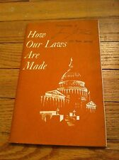 Vintage How Our Laws Are Made  Dr. Charles J Zinn Edward F Willett Jr. 1974 Book