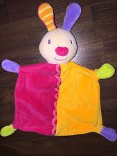 Baby Fehn Schmusetuch Kuscheltuch Schnuffel Bunt Bunny Hase Lila Gelb Pink Grün