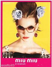 PUBLICITE ADVERTISING 105 2012  MIU-MIU   collection  lunettes