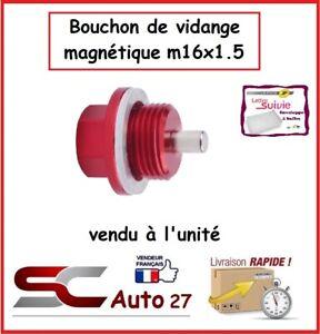 bouchon/ de vidange magnétique rouge auto/moto M16x1.5
