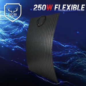 MOBI 250W Flexible Solar Panel Mono Cell 12V For Camping RV With MC4