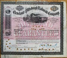 SPECIMEN/1870 Printer's Proof: Cleveland & Pittsburgh Railroad Company - PA / OH