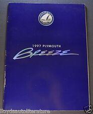 1997 Plymouth Breeze Catalog Sales Brochure Excellent Original 97
