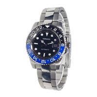 Hermann orologio Ghiera GMT Acciaio Bracciale Oyster Movimento Automatico