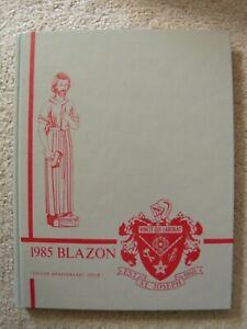 1985 St. Joseph High School Yearbook Westchester Illinois IL Blazon clean