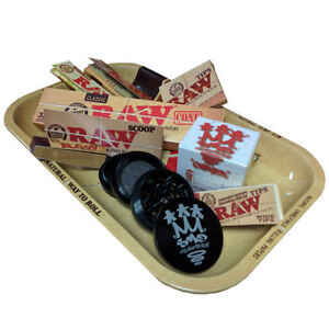 RAW Small Rolling Tray and Shredder Gift Sets by SMO-KING
