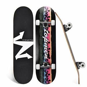 """Skateboard 31""""x8"""" Complete Standard Skateboards Double Kick Skate Board Teens"""