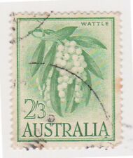 (K107-52) 1963 AU 2/3d Wattle on white paper (tone spots) used (BJ)
